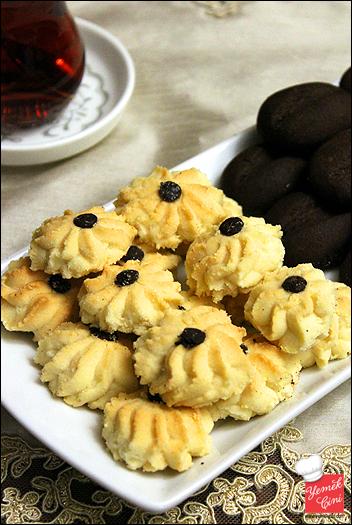 Tahinli & kahveli kurabiyeler