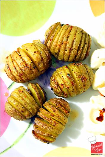 Mini Yelpaze Patatesler
