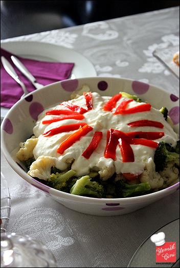 Yoğurtlu Haşlanmış Sebze Salatası