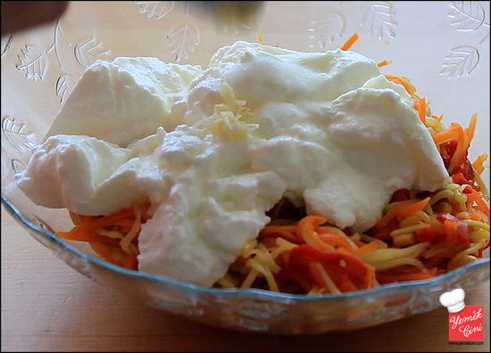Yoğurtlu Jülyen Salata