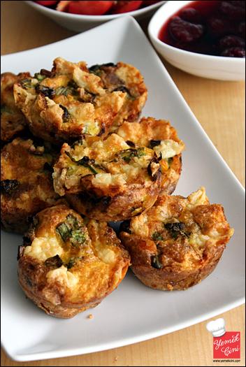 Peynirli & Sebzeli Muffin Omlet