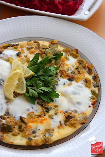 Pırasalı Omlet