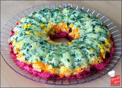 3 Renkli Patates Pastası